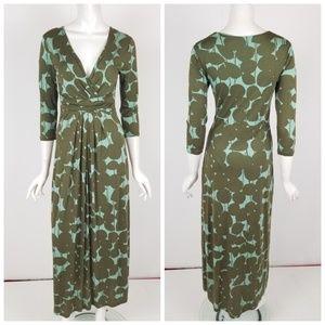 Boden Green Polka Dot Maxi Dress Size 4